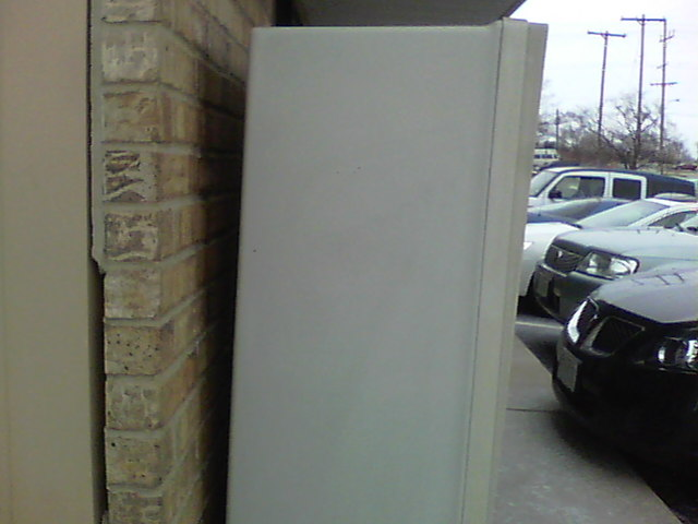 Graffiti removal from office mailbox